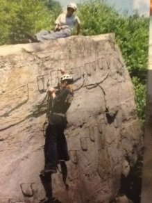 18 years old rock climb