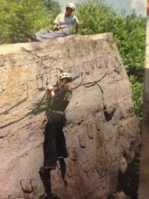 18 years old rock climb