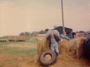 14 playing at a farm