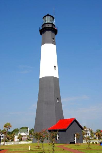 Usa Georgia Lighthouse Tybee Island Lighthouse